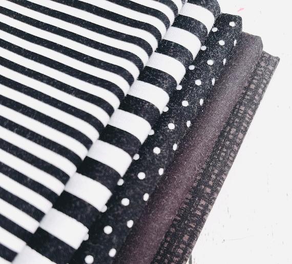 1/4 Yard Bundle (5 Fabrics) Black Riley Blake Designs