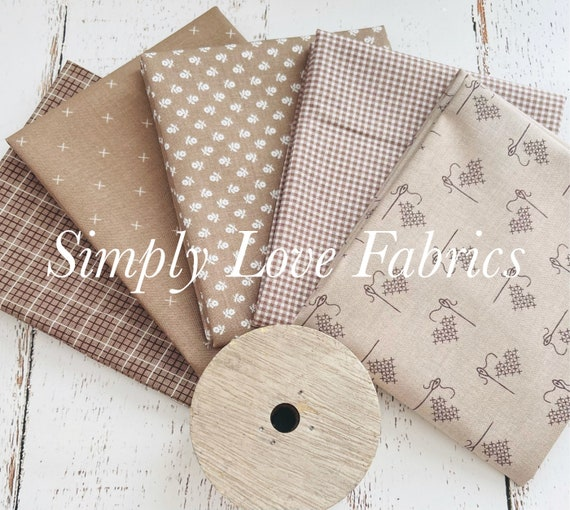 Fall Basics Fat Quarter Bundle- 5 Pebble Fabrics- Riley Blake Designs