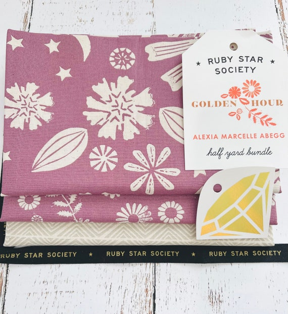 Golden Hour- 1/2 Yard Bundle (3 Fabrics) by Alexia Marcelle Abegg for Ruby Star Society