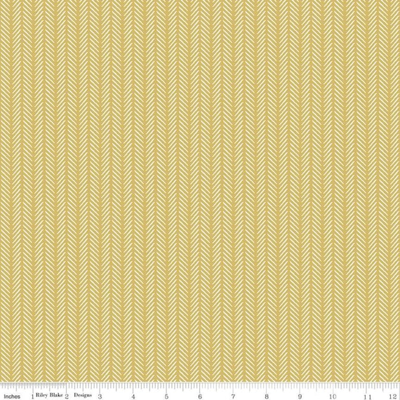 Gingham Foundry -1/2 Yard Increments, cut continuously - Honey Stripe - C11136  by My Minds Eye for Riley Blake Designs