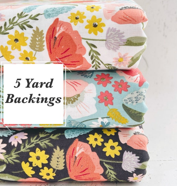 5 Yard Backing- Tea with Bea- C10490 Main Sky  by Katherine Lenius for Riley Blake Designs