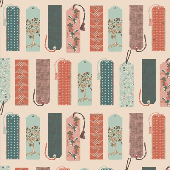 Bookish- 1/2 Yard Increments, Cut Continuously- (Mark My Words 63502) by Sharon Holland for Art Gallery fabrics