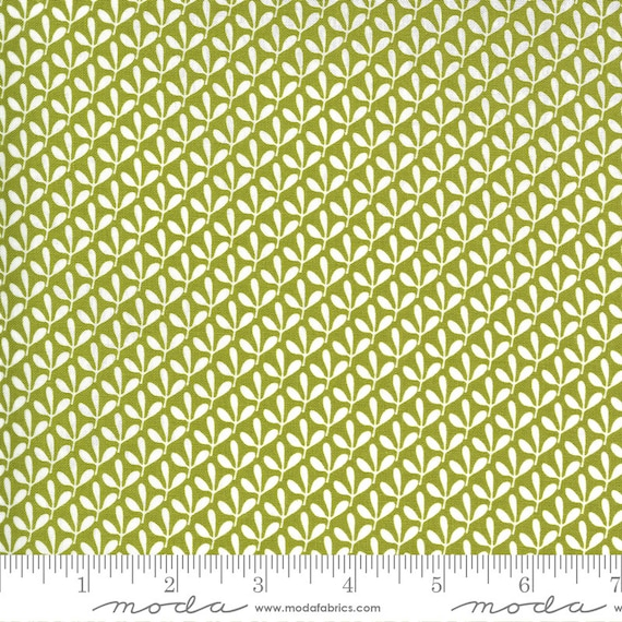 Spring Chicken- 1/2 Yard Increments, Cut Continuously (55528 13 Sprouts Green)  by Sweetwater for Moda