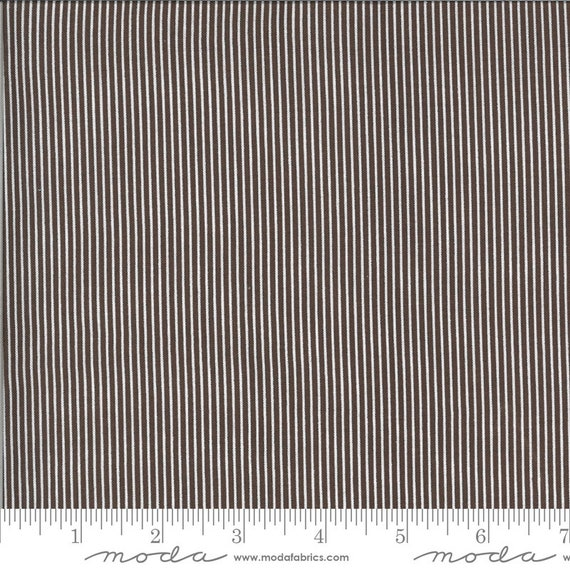 Folktale  (1/2 Yard Increments, Cut Continuously) Skinny Stripes 5125-18 Coco - Lella Boutique for Moda