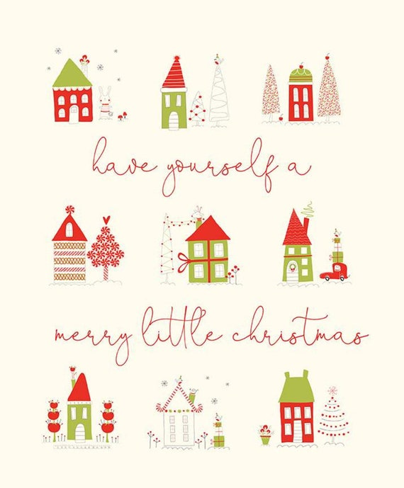 """Merry Little Christmas -PANEL 36"""" x 43.5""""- P9648- Fabric by Sandy Gervais for Riley Blake Designs"""