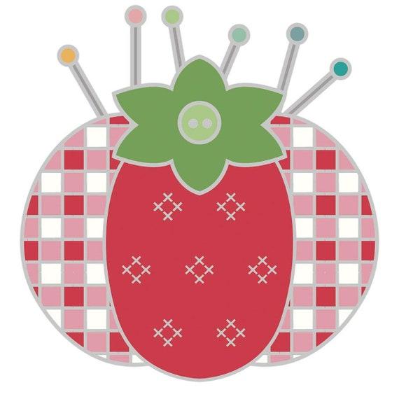 My Happy Place Tomato Pin Cushion Needle Minder- ST-22912- by Lori Holt of Bee in My Bonnet for Riley Blake Designs