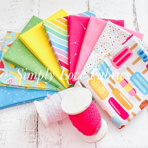 Rainbow Fruit- Fat Quarter Bundle (9 Fabrics) by Damask Love for Riley Blake Designs