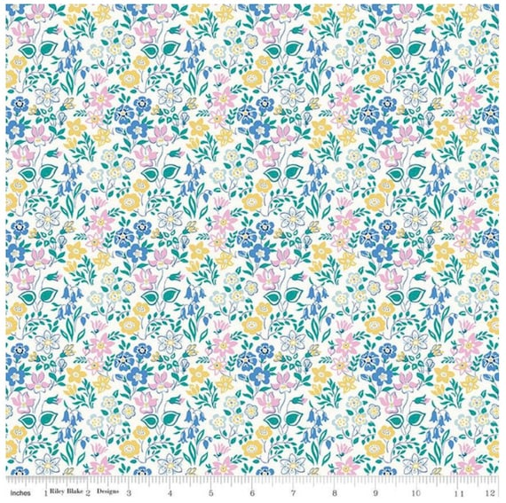 The Deco Dance Collection - 1/2 Yard Increments, Cut Continuously (04775920A- Silver Bells A) Liberty Fabrics for Riley Blake Designs