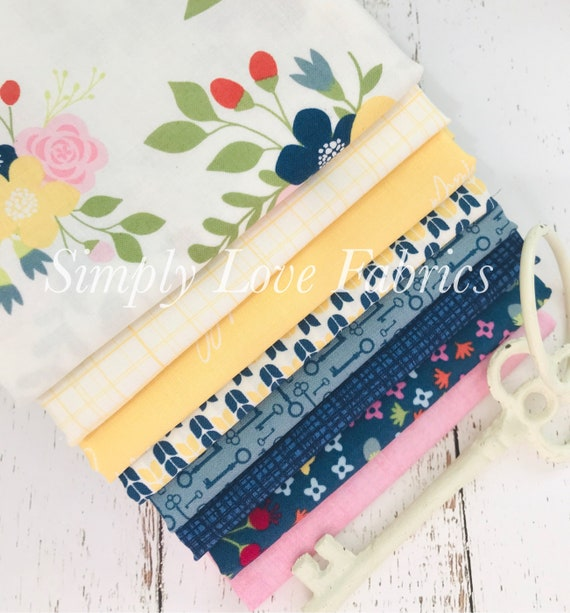 Bloom and Grow- 1/2 Yard Bundle (8 Fabrics) by Simple Simon and Co. for Riley Blake Designs- 10110