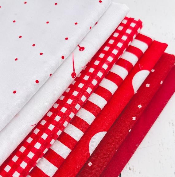1/4 Yard Bundle (7 Fabrics) Red Riley Blake Designs