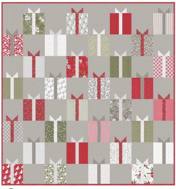 """Nice List Quilt Kit with Pattern (optional) by Vanessa Goertzen of Lella Boutique for Moda- Finished Quilt Size 76.5"""" x 81.5"""""""