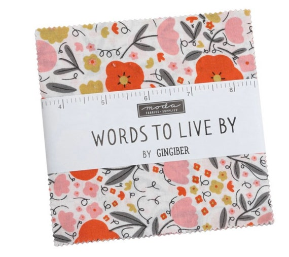 Words To Live By- Charm Pack- 48320PP- 42 Fabrics -by Gingiber for Moda