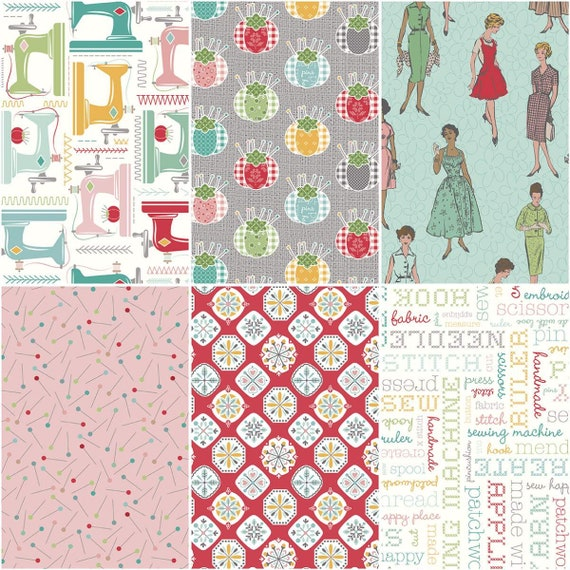 My Happy Place -1 Yard Bundle- 1YD-1120-6 by Lori Holt of Bee in My Bonnet for Riley Blake Designs