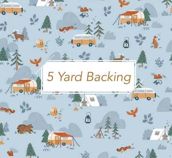 5 Yard Backing- Camp woodland- (10460 Sky Main) by Natàlia Juan Abelló for Riley Blake Designs