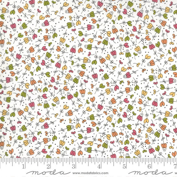 Spring Chicken- 1/2 Yard Increments, Cut Continuously (55522 11 Flower Garden Multi)  by Sweetwater for Moda