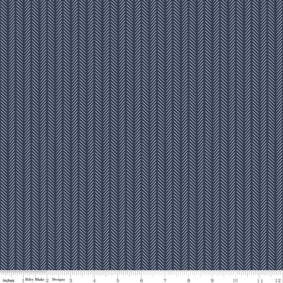 Gingham Foundry - 1/2 Yard Increments, cut continuously - Navy Stripe - C11136  by My Minds Eye for Riley Blake Designs