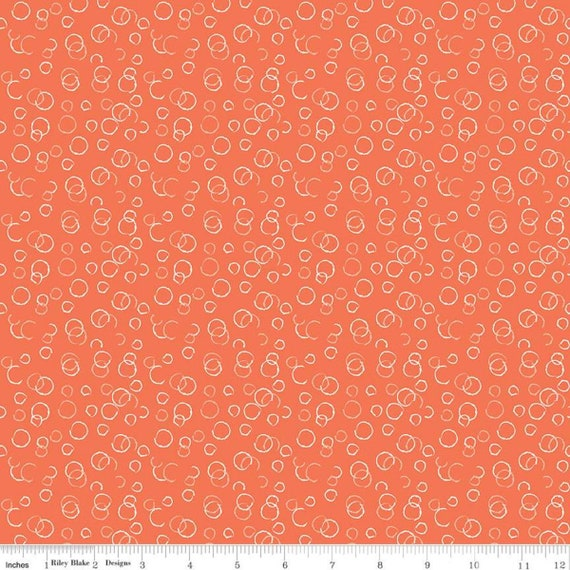 Ready, Set, Splash- (1/2 Yard Increments, Cut Continuously) C9896 Coral Bubbles by Sandy Gervais for Riley Blake Designs