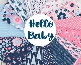 Fat Quarter Bundle Hello Baby by Christopher Thompson for Riley Blake Designs- 15 Fabrics