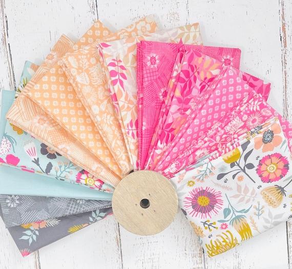 Meadow Lane- Fat Quarter Bundle (13 Fabrics) by Sara Davies for Riley Blake Designs