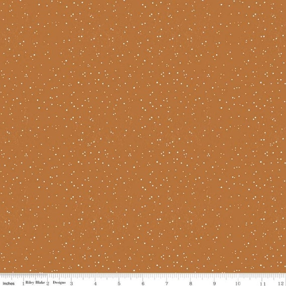 Snow Sweet- 1/2 Yard Increments Cut Continuously- C9671 Gingersnap Sugary Snow Dots- J Wecker Frisch for Riley Blake Designs