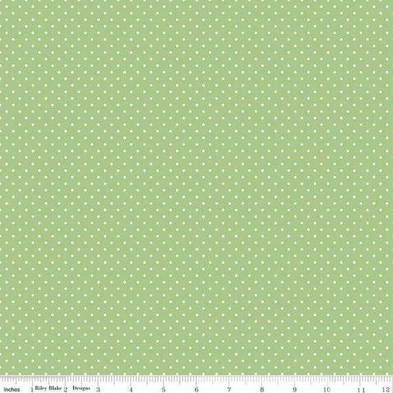 Swiss Dot GREEN by Riley Blake Designs- C670- 1/2 Yard Increments, Cut Continuously