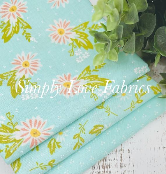 Happy Days- 1/2 Yard Bundle (3 Aquas Fabrics) by Sherri and Chelsi for Moda