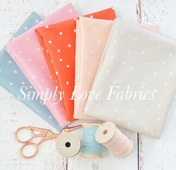 Make Time- Fat Quarter Bundle (5 Square Dot Fabrics) by Aneela Hoey for Moda
