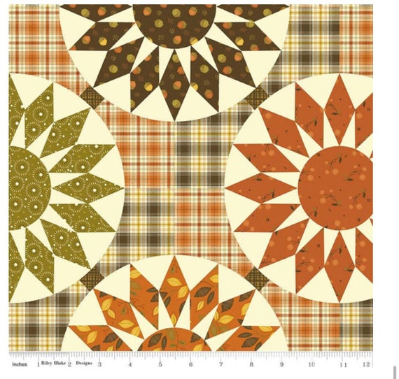 Adel in Autumn- 1/2 Yard Increments, Cut Continuously (CH10830 Multi Cheater Print) by Sandy Gervais for Riley Blake Designs