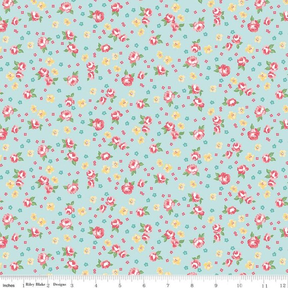 Notting Hill-1/2 Increments, Cut Continuously-(C10202 Songbird Floral) by Amy Smart for Riley Blake Designs
