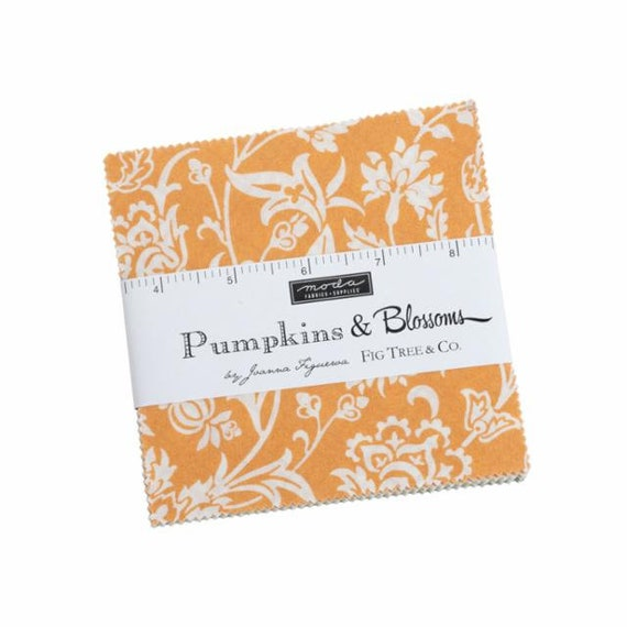 Pumpkins and Blossoms- Charm Pack (20420PP- 42 fabrics) by Fig Tree for Moda