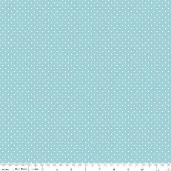 Swiss Dot AQUA by Riley Blake Designs- C670-20- 1/2 Yard Increments, Cut Continuously