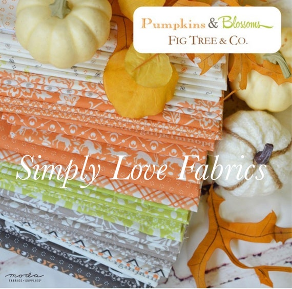 Pumpkins and Blossoms- 1/2 Yard Bundle (38 Fabrics) by Fig Tree for Moda