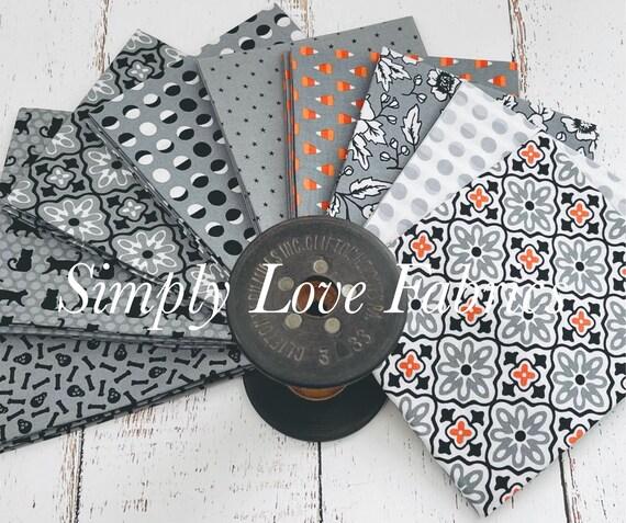 Midnight Magic 2 -Fat Quarter Bundle  (9 Gray Fabrics) by April Rosenthal for Moda