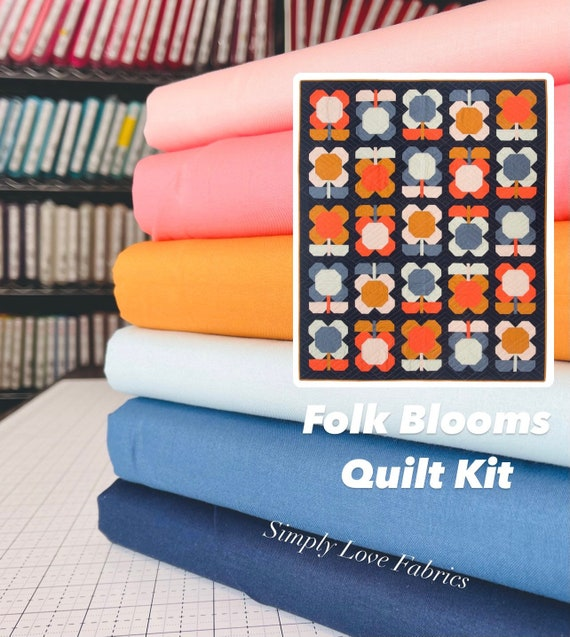 """Folk Blooms Quilt Kit (Pattern NOT Included)- Finished Size 656.5"""" x 69"""" - by Pen and Paper Patterns"""
