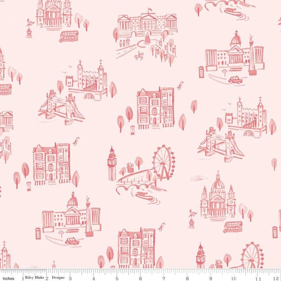 Notting Hill-1/2 Increments, Cut Continuously-(C10201 Blush London) by Amy Smart for Riley Blake Designs