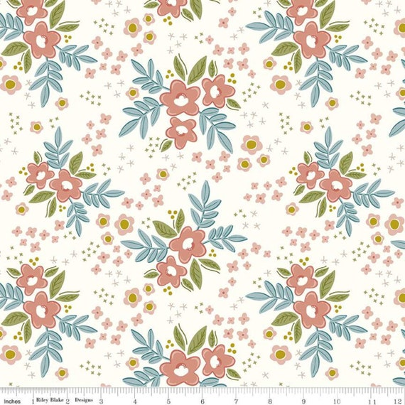 Primrose Hill - 1/2 Yard Increments, Cut Continuously Cream Main - C11060  by Melanie Collette for Riley Blake Designs
