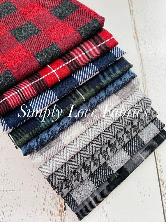 All About Plaid- 1/2 Yard Bundle (11 Fabrics) Riley Blake Designers