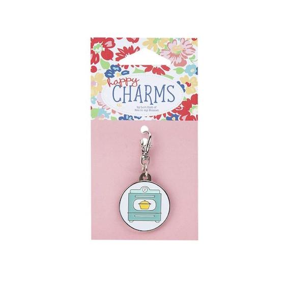 Lori Holt Vintage Happy Enamel Happy Charm- Oven Charm- ST-14748