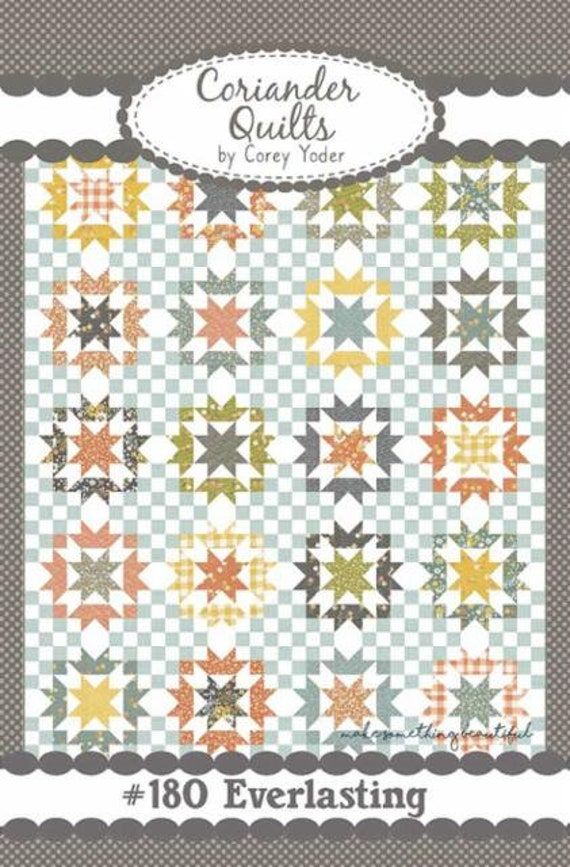 """Everlasting Quilt KIT with Paper Pattern in Cozy Up Fabric by Corey Yoder for Moda Fabrics- Finished Size 74"""" x 92"""""""