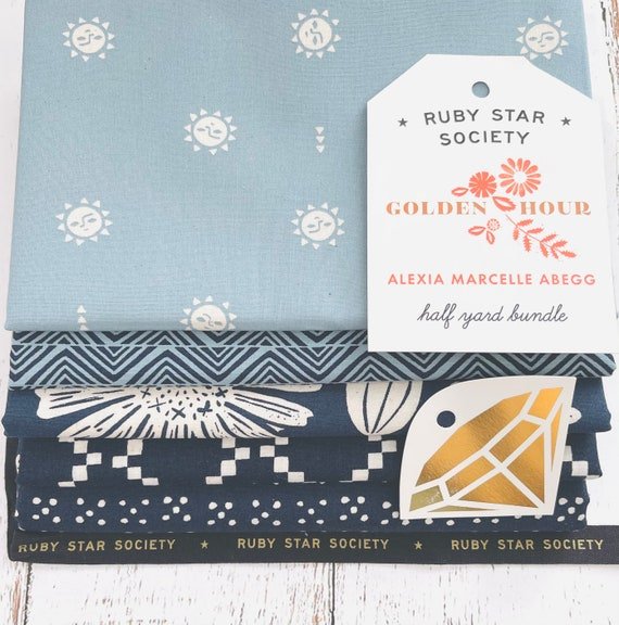 Golden Hour- 1/2 Yard Bundle (5 Fabrics) by Alexia Marcelle Abegg for Ruby Star Society