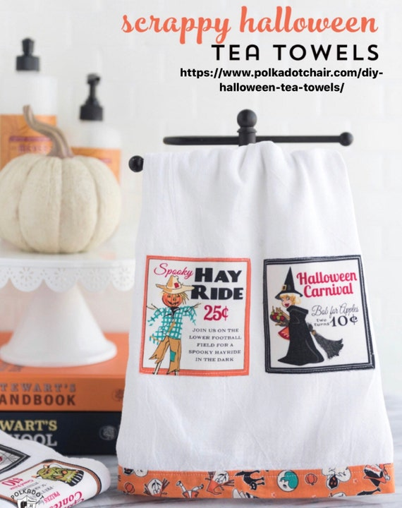 """Halloween Tea Towel Kits -Approximate Size 16"""" x 28"""" *Fabrics vary slightly from first Picture"""