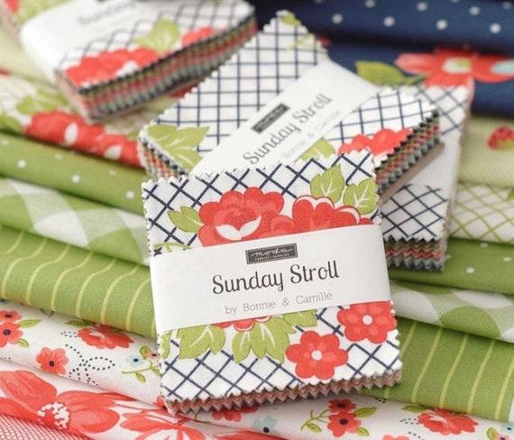Sunday Stroll- MINI Charm Pack (55220MC-42 Fabrics) by Bonnie and Camille for Moda