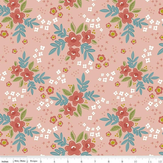 Primrose Hill - 1/2 Yard Increments, Cut Continuously Blush Main - C11060  by Melanie Collette for Riley Blake Designs