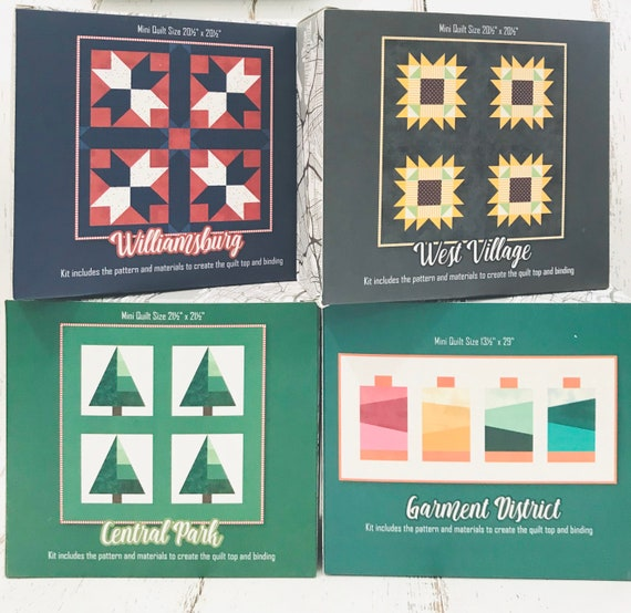 MARKED DOWN- Boxed Mini Quilt Kits (4 Design Options) by Christopher Thompson for Riley Blake Designs