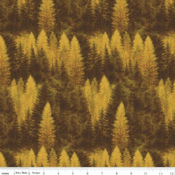 Majestic Outdoors- 1/2 Yard Increments, Cut Continuously- C5573 Yellow Forest by Greg and Company for Penny Rose Fabrics