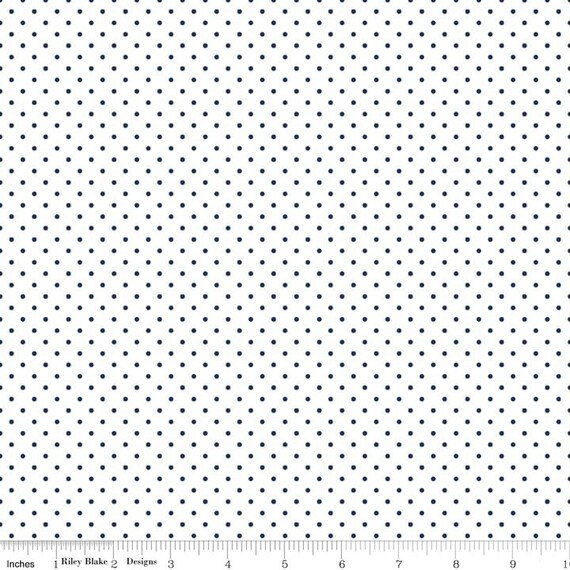 Swiss Dot NAVY by Riley Blake Designs- C660- 1/2 yard Increments, Cut Continuously