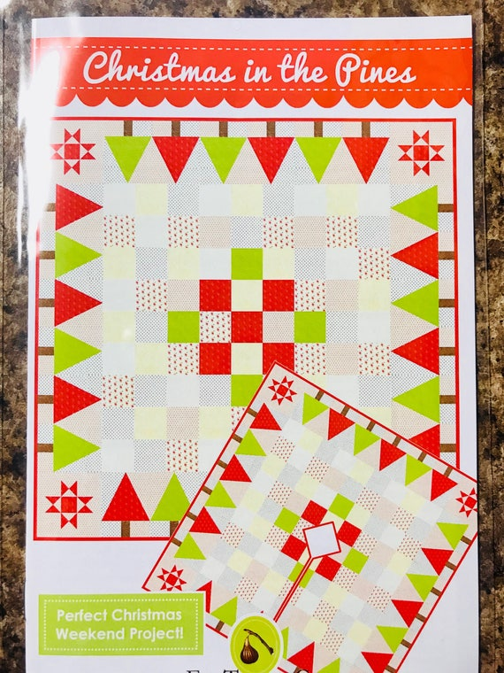 """Christmas in the Pines by Fig Tree & Co. - Finished Quilt Size 58.5"""" x 58.5"""""""