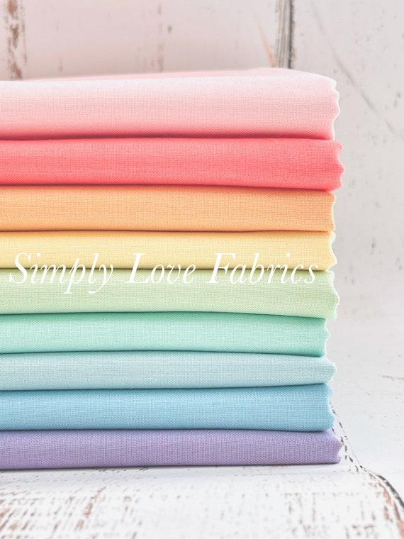 1/2 Yard Bundle- C120- 9 Fabrics- Confetti Cotton Solids by Riley Blake Designs