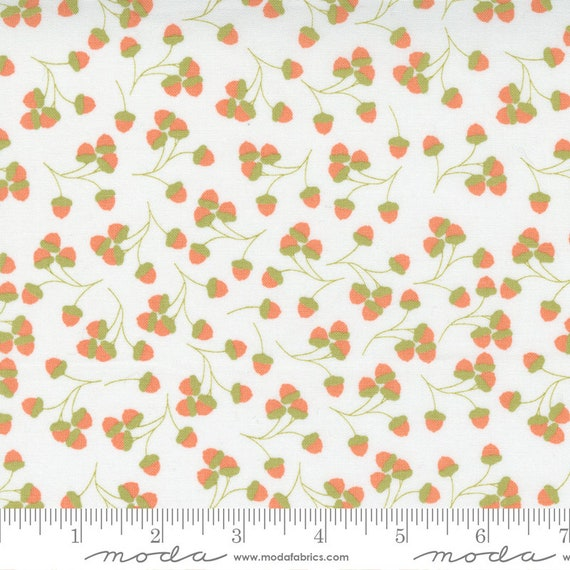 Cozy Up- 1/2 Yard Increments, Cut Continuously (29123 11 Acorns Cloud) by Corey Yoder for Moda Fabrics
