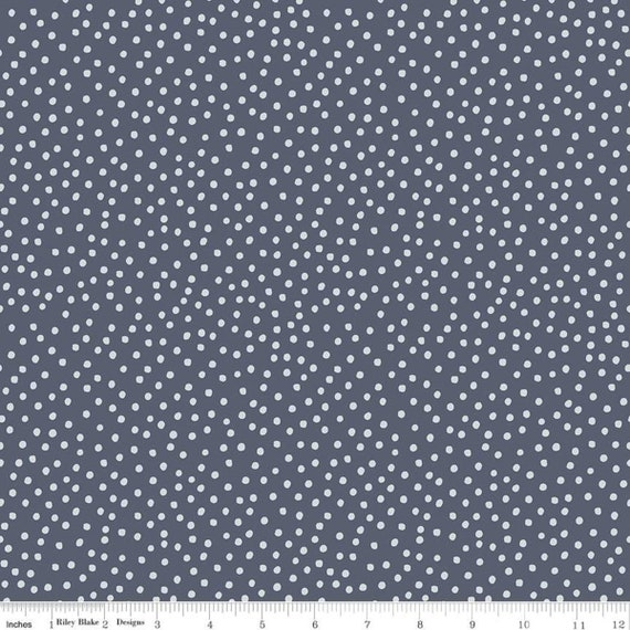 Gingham Foundry - 1/2 Yard Increments, cut continuously - Denim Dots - C11138  by My Minds Eye for Riley Blake Designs